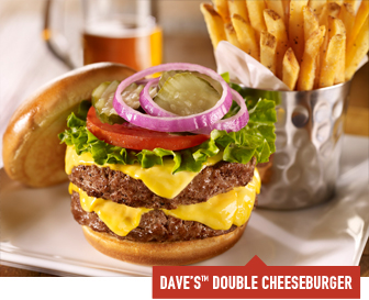 Dave's Double Cheeseburger